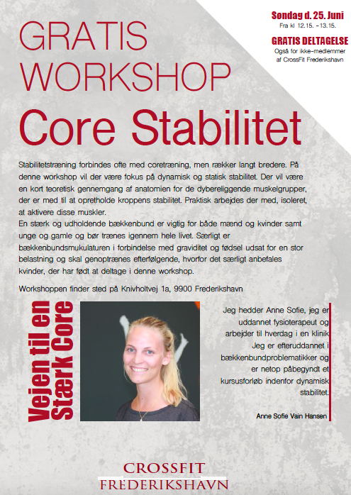 Core stabilitet - workshop CrossFit Frederikshavn
