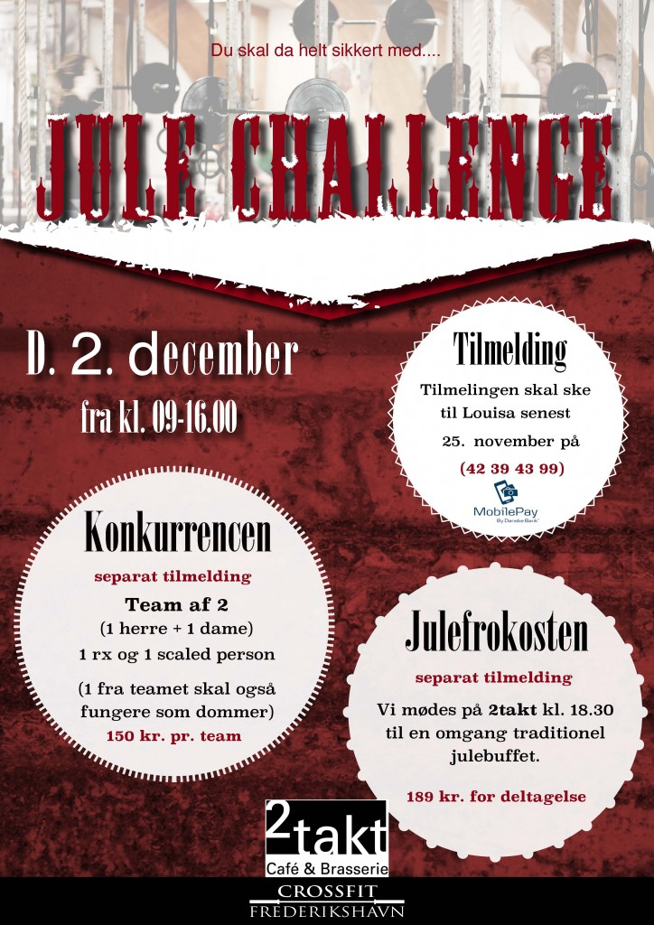 JuleChallenge2017 crossfit frederikshavn